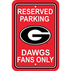 NCAA Georgia Bulldogs Parking Sign