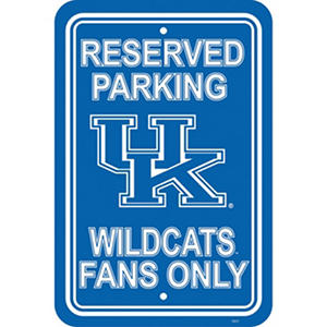 NCAA Kentucky Wildcats Parking Sign