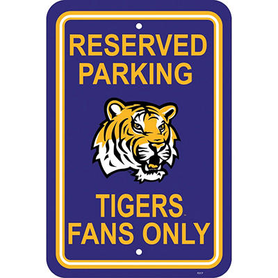 NCAA LSU Tigers Parking Sign
