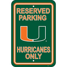 NCAA Miami Hurricanes Parking Sign