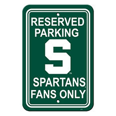 NCAA Michigan State Spartans Parking Sign