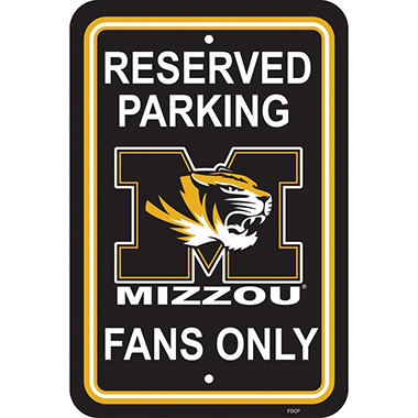 NCAA Missouri Tigers Parking Sign