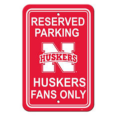 NCAA Nebraska Cornhuskers Parking Sign