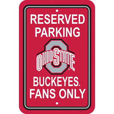 NCAA Ohio State Buckeyes Parking Sign