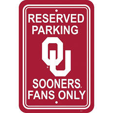 NCAA Oklahoma Sooners Parking Sign