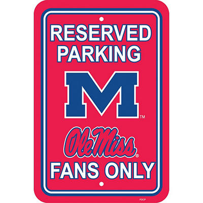 NCAA Mississippi Rebels Parking Sign