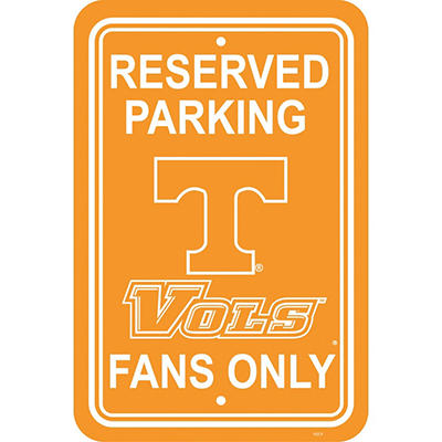NCAA Tennessee Volunteers Parking Sign