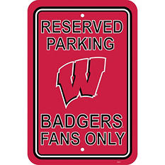 NCAA Wisconsin Badgers Parking Sign