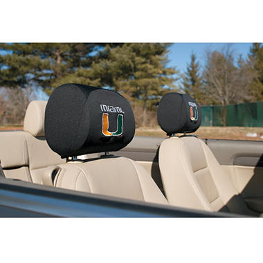NCAA Miami Hurricanes Headrest Cover