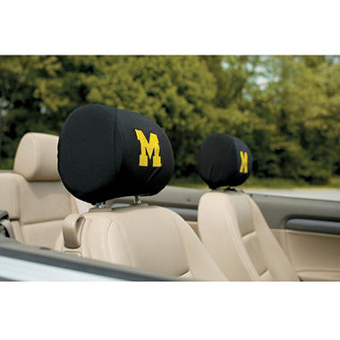 NCAA Michigan Wolverines Headrest Cover