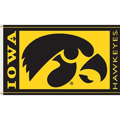 NCAA Iowa Hawkeyes - 3 x 5 Flag