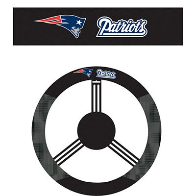 NFL New England Patriots Steering Wheel Cover