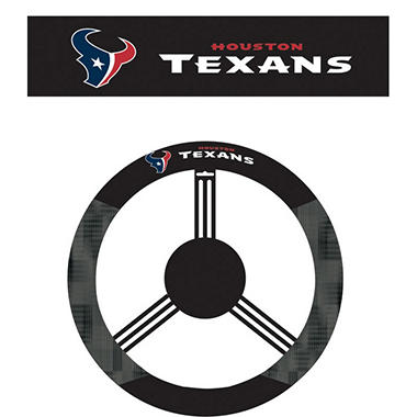 NFL Houston Texans Steering Wheel Cover
