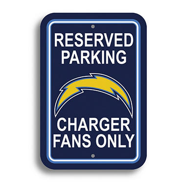 Nfl San Diego Chargers Parking Sign Sam S Club