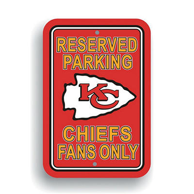 NFL Kansas City Chiefs Parking Sign