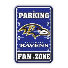 NFL Baltimore Ravens Parking Sign