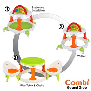 Combi Go & Grow 3-in-1 Set - Walker, Play Table & Chairs