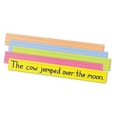 Pacon Peacock Super Bright Sentence Strips