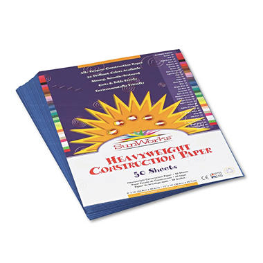 Pacon - Construction Paper, 58 lbs., 9 x 12 - Blue, 50 Sheets per Pack