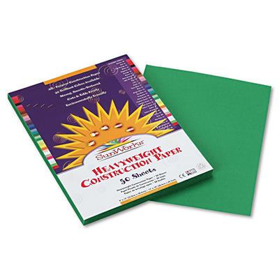 Pacon - Construction Paper, 58 lbs., 9 x 12 -  Holiday Green, 50 Sheets per Pack