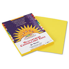Pacon - Construction Paper, 58 lbs., 9 x 12 - Yellow, 50 Sheets per Pack