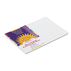 Pacon - Construction Paper, 58 lbs., 12 x 18 -  White, 50 Sheets per Pack