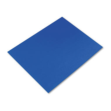 Pacon - Colored Four-Ply Poster Board, 28 x 22, Dark Blue - 25/Carton
