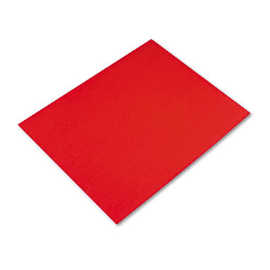 Pacon - Colored Four-Ply Poster Board, 28 x 22, Red - 25/Carton