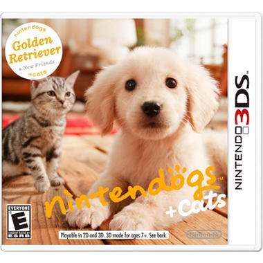 Nintendogs + Cats: Golden Retriever - 3DS