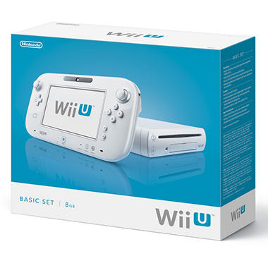 Wii U 8GB White Console with Nintendo GamePad