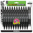 Zebra - Retractable Ballpoint Pen, Black - 24 Pack