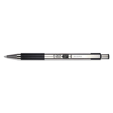 Zebra - F-301 Ballpoint Retractable Pen, Black Ink - Fine