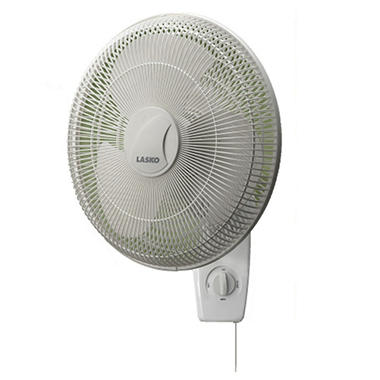"Lasko 16"" Oscillating Wall Mount Fan"