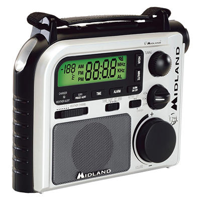 Midland Emergency Crank Weather Alert Radio