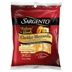 Sargento Natural Blends Cheddar-Mozzarella Cheese Sticks - 24 pk.