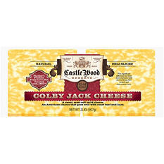 Castle Wood Reserve Colby Jack Natural Deli Sliced Cheese - 2 lbs.