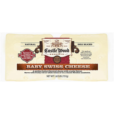 Castle Wood Reserve Baby Swiss Slices - 26.8 oz.