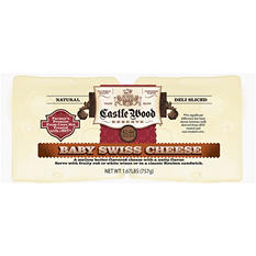 Castle Wood Baby Swiss Cheese Slices (1.67 lb.)