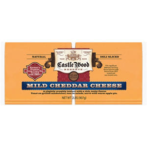 Castle Wood Mild Cheddar Cheese Slices (2 lb.)