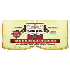 Castle Wood Reserve® Muenster Natural Deli Sliced Cheese - 2 lb.