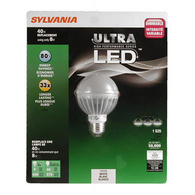Sylvania Ultra LED Globe 40W Soft White Equivalent