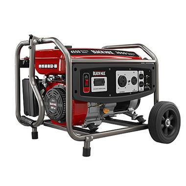 Black Max 3,650W / 4,550W Portable Gas Powered Generator