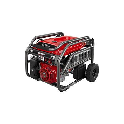 Black Max 7,000 Watt Portable Gas Generator with Electric Start - Powered by Honda