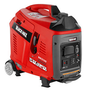 Black Max 1,700W / 2,100W Gas Powered Digital Inverter Generator