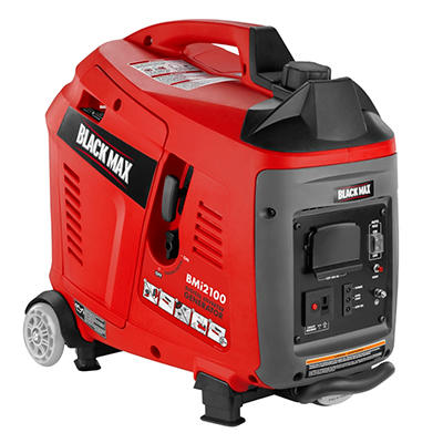 Black Max 2100 Watt Gasoline Powered Digital Inverter Generator