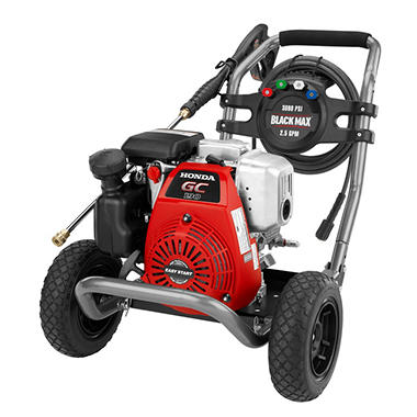 Black Max 3,000 PSI Gasoline Pressure Washer - Powered by Honda