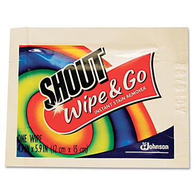 Shout� Wipe & Go Instant Stain Remover Wipes - 80 pk.