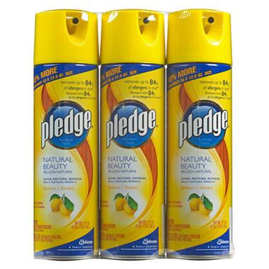 Pledge Lemon Furniture Polish - 17.7 oz. - 3 pk.