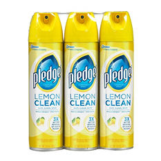 Pledge Furniture Spray, Lemon Clean and Multi Surface (13.8 oz. - 3 pk.)