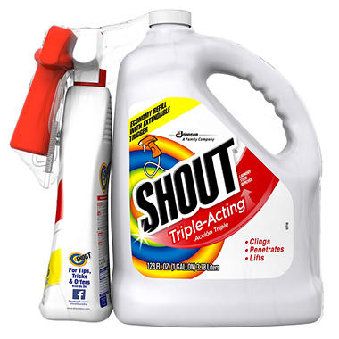 Shout Stain Remover With Extendable Trigger Hose 128 Oz